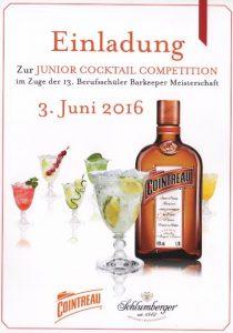 Einladung Junior Cocktail Competition 2016